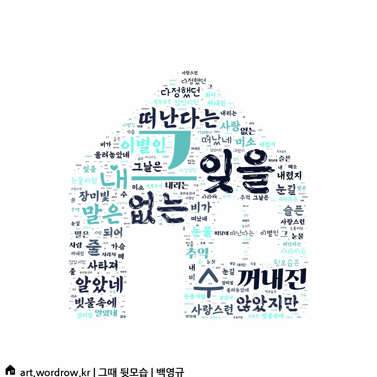 워드 클라우드: 그때 뒷모습 [백영규]-26